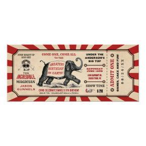Cirus Birthday Party Ticket  Raffle