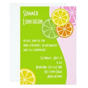 Citrus Summer Luncheon Invitation