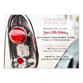 Classic Car Mid Century Tail Light Invitations