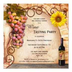 Classic Italian Style Wine Tasting Invitation