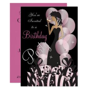 Classy Diva Party Girl Invitations