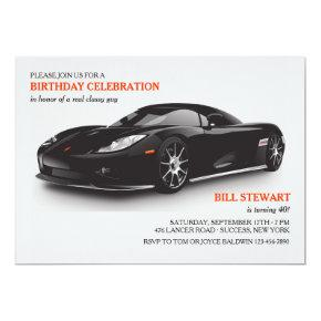 Classy Sports Car Invitations