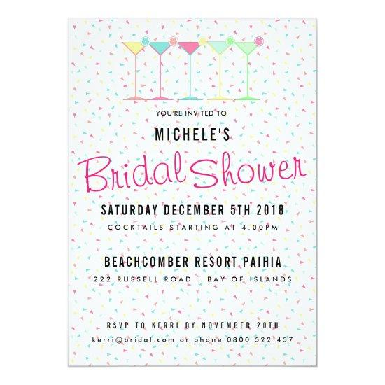cocktail party bridal shower invitations