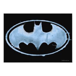 Coffee Bat Symbol - Blue Card