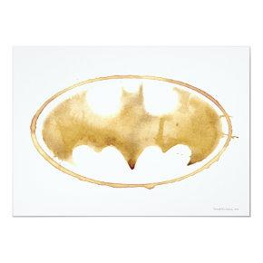 Coffee Bat Symbol Invitation