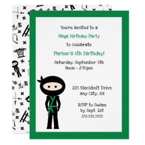 Color Change Ninja Birthday party invite