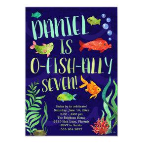 Colorful Fish Birthday Invitation