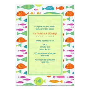 Colorful Fishes Invitations