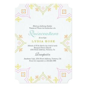 Colorful Quince Invitations