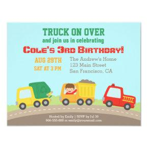 Colourful Truck Boys Birthday Party