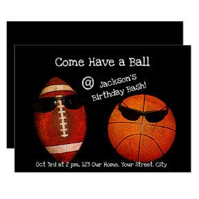 Come Have a Ball, Sports Birthday Invitation