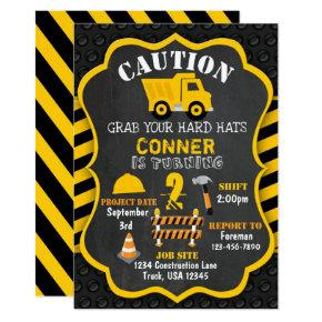Construction Birthday Invitation | Dump Truck