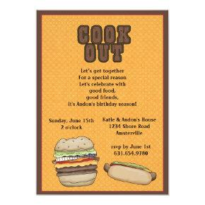Cook Out Invitations