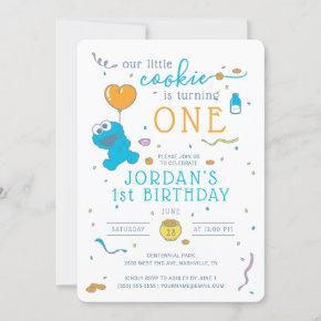 Cookie Monster | Our Little Cookie is Turning One Invitation