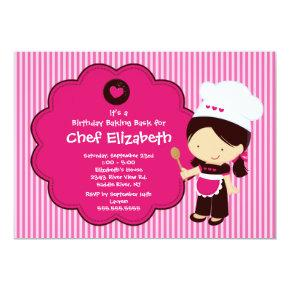 Cooking Baking Birthday Party Invitation