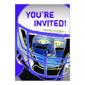 Cool 2013 Football Party Invitation Customizable