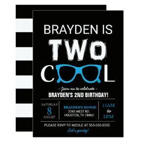 Cool Birthday Invitation | Black