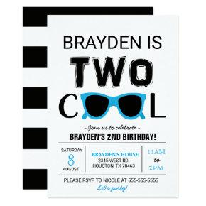 Cool Boy Birthday Invitation