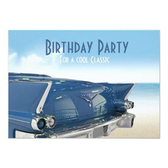 Cool Classic Car Th Birthday Party Invitations Candied Clouds - Classic car invitations