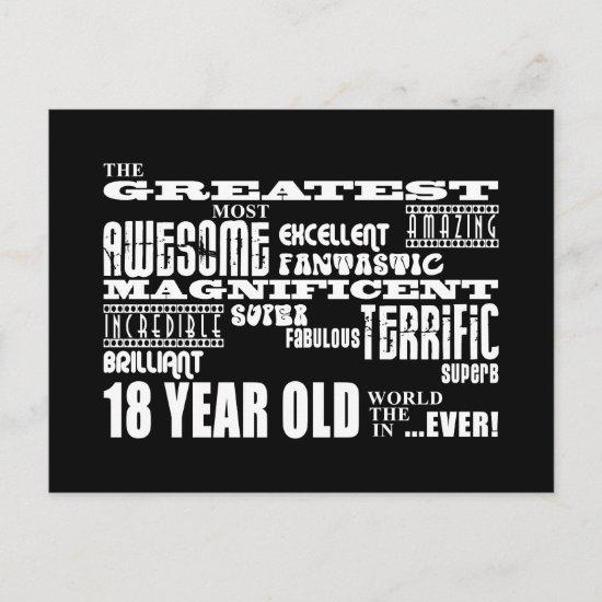 Cool Fun 18th Birthday Party Greatest 18 Year Old Invitation Post