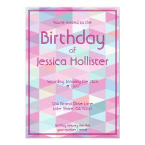 Cool Modern Birthday Invitation | Triangles