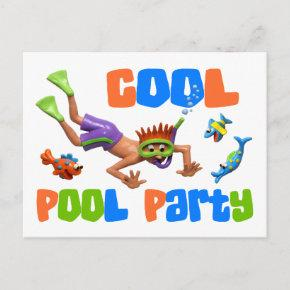 Cool Pool Party Invitation Post
