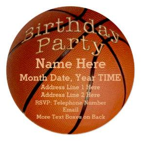 Cool Round Custom Basketball Birthday