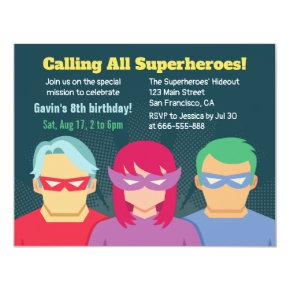 Cool Superhero Birthday Party Invitation