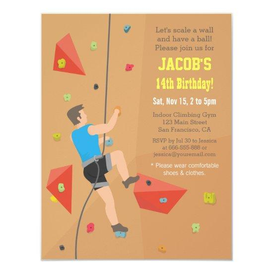 Cool wall rock climbing birthday party invitations candied clouds cool wall rock climbing birthday party invitations filmwisefo