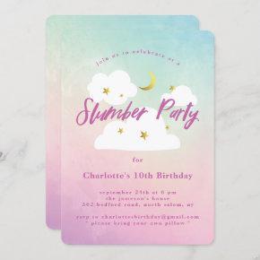 Cotton Candy Sky Slumber Party Invitation