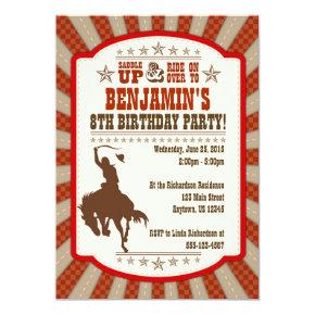 Cowboy Theme Birthday Invitations Candied Clouds