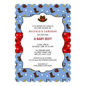Cowboy Baby Shower Invite WESTERN / birthday party