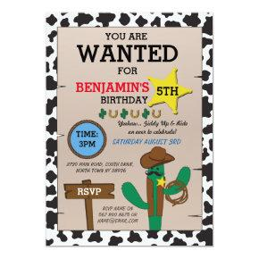 Yeehaw birthday invitations candied clouds cowboy cowgirl birthday party cow boy invitations filmwisefo