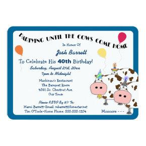 Cowdacious Rounded Cut Birthday Party Invitation