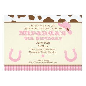 Cowgirl Birthday Invitation