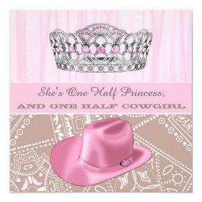 Cowgirl Princess Birthday Party Card
