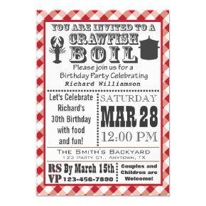 Crawfish Boil Birthday Party Invitations