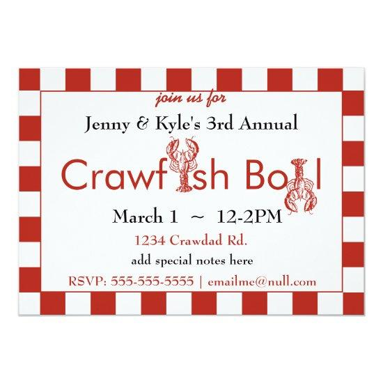 Crawfish Boil Invitations Candied Clouds