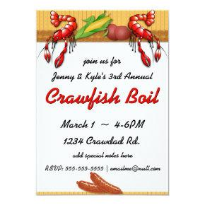 Crawfish Boil with Sausage Invitations