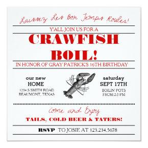 Crawfish or Low Country Boil Invitations