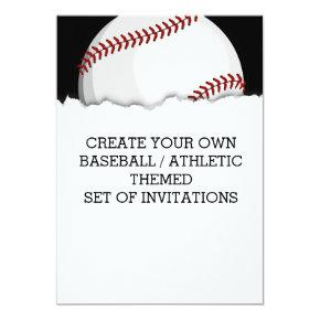 Create a Baseball Themed Invitations