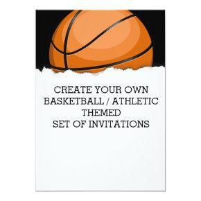 Create a Basketball Themed Invitation