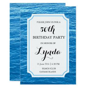 Cruise Ship On The Sea Birthday Invitation Candied Clouds