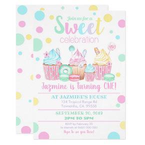 Cupcake Birthday Invitation - Sweets Invitation