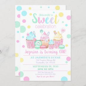 Cupcake Birthday Invitation - Sweets Invitation