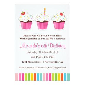 Cupcake Party Invitation