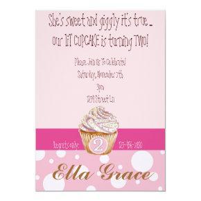 Cupcake & Polka Dots - 2nd Invitations
