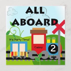 Custom All Aboard Train Party