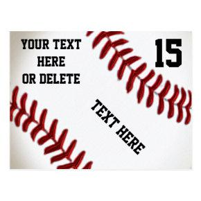 Custom Baseball Post with 4 Text Boxes