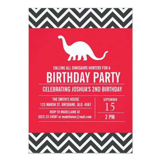 Custom Dinosaurs Birthday Party Invitations For Boy